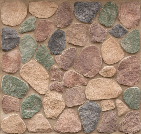 Hillside Split Rock Exterior Stone Wall